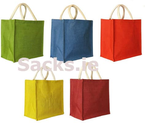 Colored Jute bags